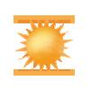 "Tagsymbol, Symbolcode ""a"", Sonne pur"