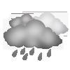 "Nachtsymbol, Symbolcode ""nh"", Regenwetter"