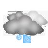 """Nachtsymbol, Symbolcode """"no"""", Mäßiger Schneefall ohne Sonne"""