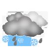 """Nachtsymbol, Symbolcode """"nr"""", Wolken, Schneeregen ohne Sonne"""