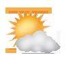 """Tagsymbol, Symbolcode """"c"""", Sonne und Wolken"""