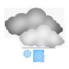 """Tagsymbol, Symbolcode """"n"""", Sonne, Wolken, Schneeschauer"""