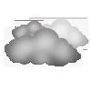 "Nachtsymbol, Symbolcode ""ne"", Kompakte Wolken"